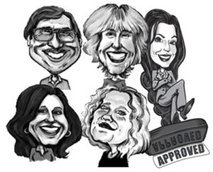 caricatures, corporate, shaded caricature, black & white caricature, promotion