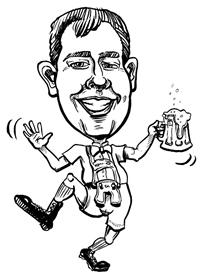 B&W Gift Caricature