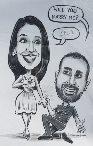 Wedding Proposals, Marriage, Weddings, Love, Couples, Caricature Prank