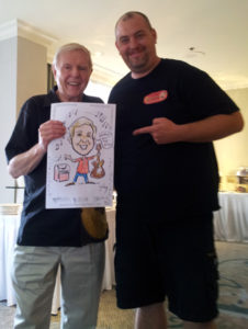party caricatures, party art, event sketches, local celebrities, Red Robinson