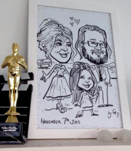 party caricatures, party art, event sketches, weddings